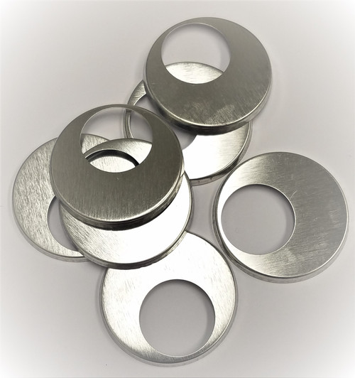 "1.5"" Tecre METAL FLAT BACKS with the hole ONLY - 1000-FREE SHIPPING"