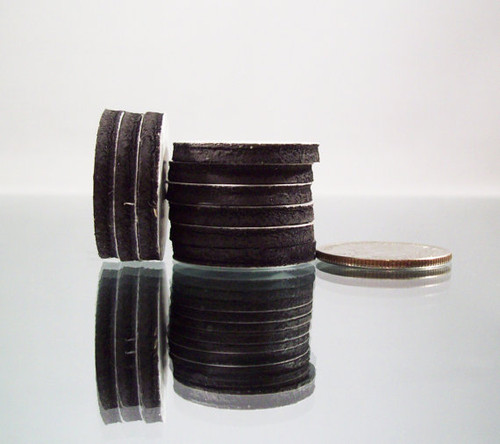 "1"" Inch Round Rubber Peel & Stick Magnets ONLY - NOT for 1"" Buttons - 100"