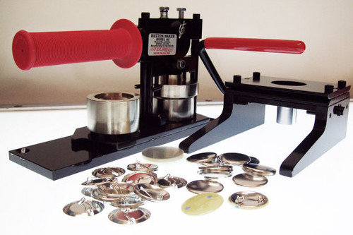 "1.25"" Tecre Button Making Kit - Machine, Graphic Punch, 500 Pin Back Button Parts-FREE SHIPPING"