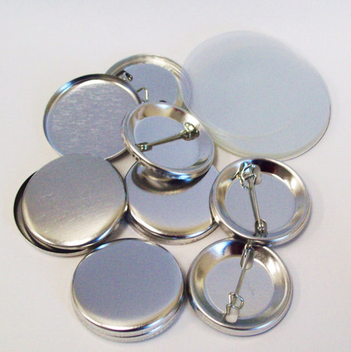 """1.25"""" Tecre Pin Back Button Parts 1-1/4 Inch - 1000 FREE SHIPPING"""
