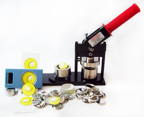 "1.25"" Tecre Button Making Kit - Machine, EK Success Hand Held Punch, 100 Pin Back Button Parts 1-1/4 Inch-FREE SHIPPING"