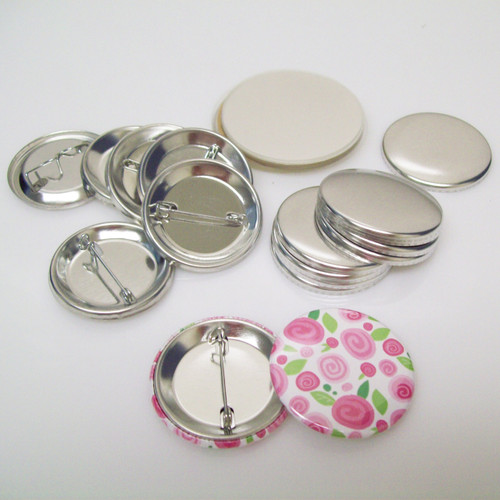 "1.50"" Tecre Pin Back Complete Button Parts 1-1/2 Inch - 500 pcs-FREE SHIPPING"