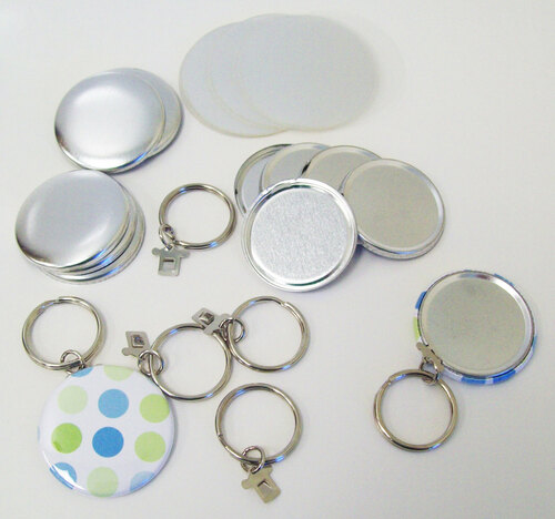 "1.50"" Tecre SPLIT Key Chain Button Parts 1-1/2 Inch - 250 pcs-FREE SHIPPING"