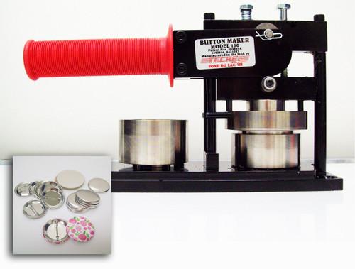 "1.50"" Tecre Button Making Kit - Machine, 1000 Pin Back Button Parts 1-1/2 Inch-FREE SHIPPING"