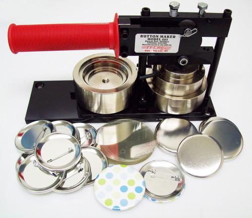 "2.25"" STD Tecre Button Making Kit - Machine,  250 Pin Back Button Parts 2-1/4 Inch-FREE SHIPPING"