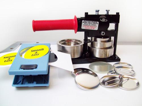 "2.25"" SPECIAL BB PHOTO & Paper Tecre Button Making Kit - Machine, EK Success Punch, 2000 Pin Back Button Parts 2-1/4 Inch"