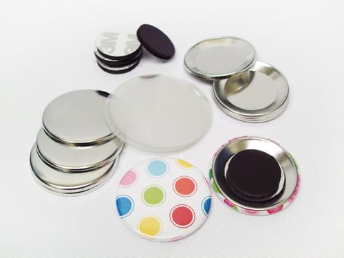 "1.75"" Magnet Button Parts 1-3/4 Inch - 100"