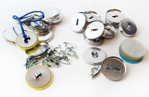 """1.25"""" Tecre Pony Tail FLAT Back Button Parts 1-1/4 Inch - 100- FREE SHIPPING"""