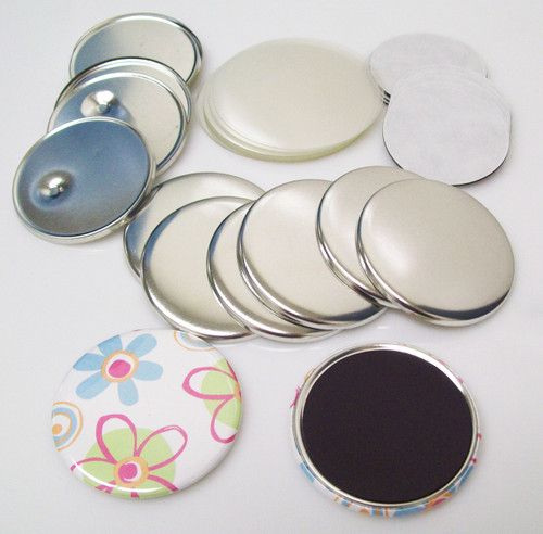 "2.25"" STD Complete MAGNET Parts 2-1/4 Inch - Makes 500 Magnets-FREE SHIPPING"