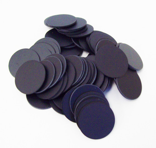 "Plastic Flat Back Discs ONLY for 1"" One Inch Button Making Machines - 100 pcs"