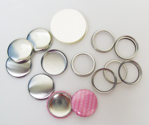 "Complete 1"" Tecre Hollow Back Button Parts 100 pcs."