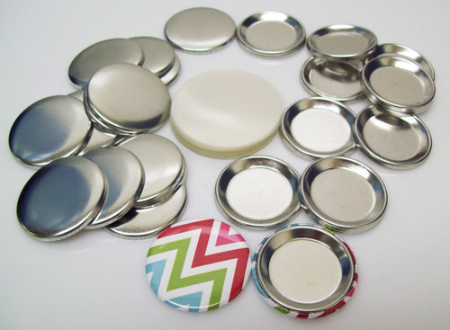 """1-1/4"""" (1.25 inch) Indented Back Button Parts for Button Maker Machines - 100 pcs"""