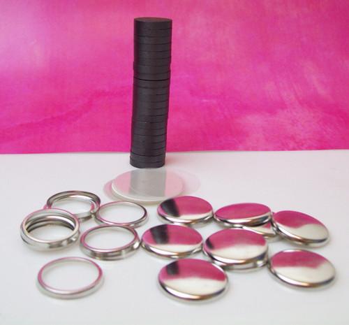 "1"" Complete JEWELRY Ceramic Magnet Parts   - 100"