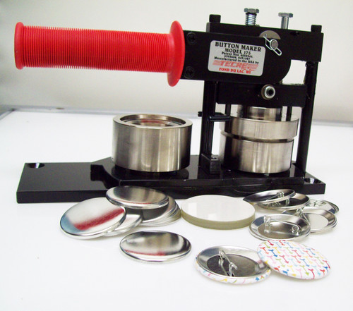 "1.75"" Tecre Button Making Kit 1-3/4 Inch  Machine + 250 Pin Back Button Parts-FREE SHIPPING"