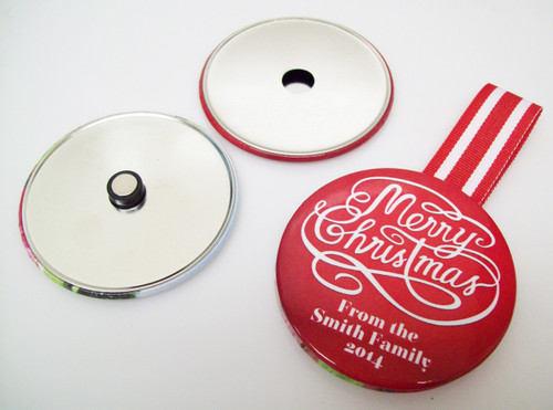 "2.25"" STD Ornament Button Parts 2-1/4 Inch - Makes 50 Ornaments-FREE SHIPPING"