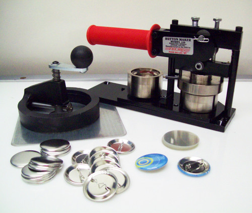 "Tecre Model #150 1.5"" Button Maker Machine, Fixed Rotary Cutter, 1000 Pin Back Button Parts-FREE SHIPPING"