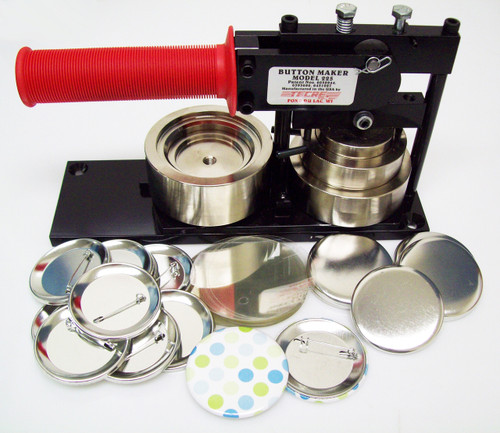 "2.25"" STD Tecre Button Making Kit - Machine,  500 Pin Back Button Parts 2-1/4 Inch-FREE SHIPPING"