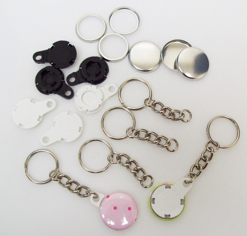 "1"" BLACK Versa Back  CHAIN Key Chain Parts 250 pcs.-FREE SHIPPING"