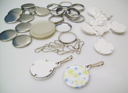 """1.25"""" Tecre White Complete Versa Back Button Parts 1-1/4 Inch - 500-FREE SHIPPING"""