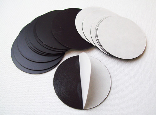 "Round 1-7/8"" Magnets with Peel and Stick Adhesive MAGNETS ONLY - 200 pcs-FREE SHIPPING"