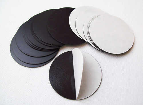 "Round 2.625"" Magnets with Peel and Stick for 3""  Buttons MAGNETS ONLY - 300 pcs"