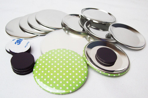 "BAM Size 3"" Magnet Back Button Parts - 500 pcs"