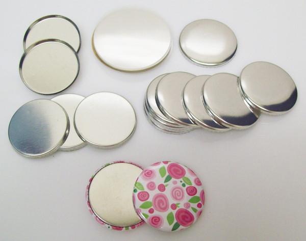 "1.50"" Tecre METAL FLAT BACK  Button Parts 1-1/2 Inch - 100 pcs-FREE SHIPPING"