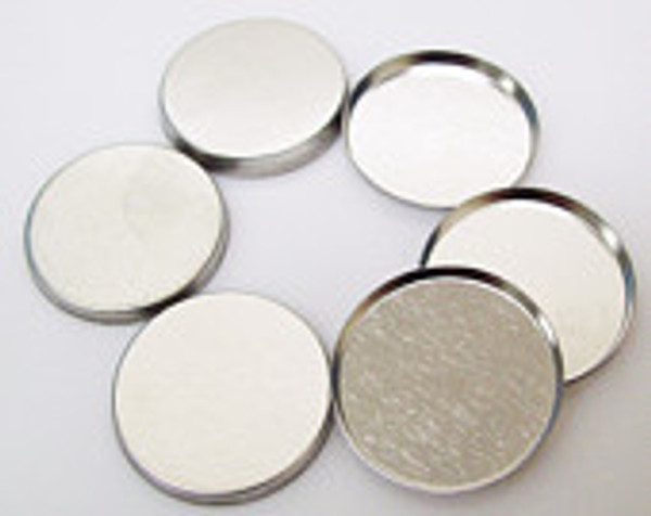 """1.75"""" Tecre METAL FLAT BACKS ONLY 1-3/4"""" - 500-FREE SHIPPING"""
