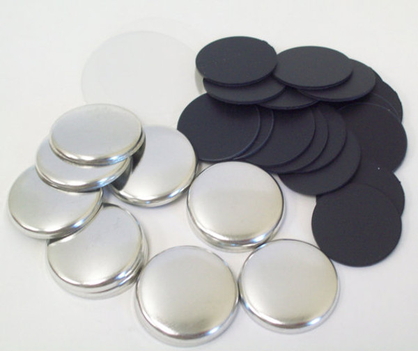 "1"" Tecre PLASTIC FLAT BACK Button Parts - 250-FREE SHIPPING"