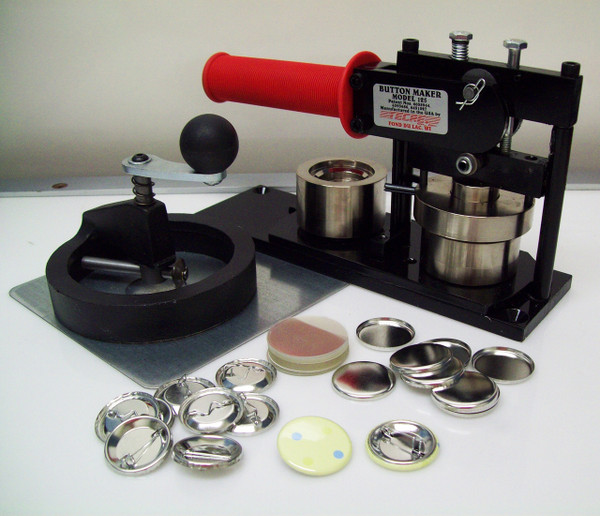 "Tecre Model #125 1.25"" Button Maker Machine, Fixed Rotary Cutter, 250 Pin Back Button Parts-FREE SHIPPING"