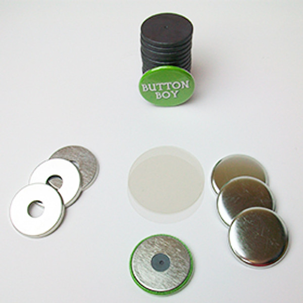 "1.25"" Magnet Flat Backs w/hole and 1-1/8"" Ceramic Magnets-100 pcs"