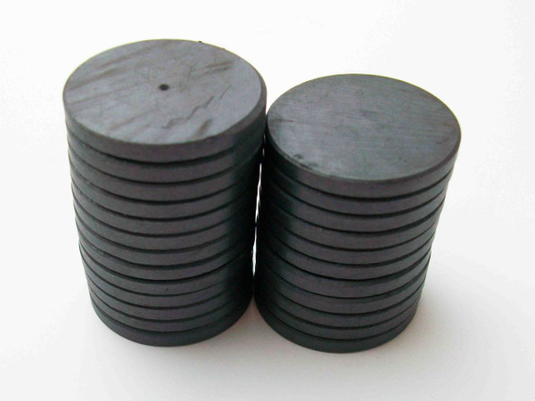 """1000 JUST RIGHT FIT magnets only -ceramic magnets  1-1/8"""" diam. x 1/8"""" thick"""