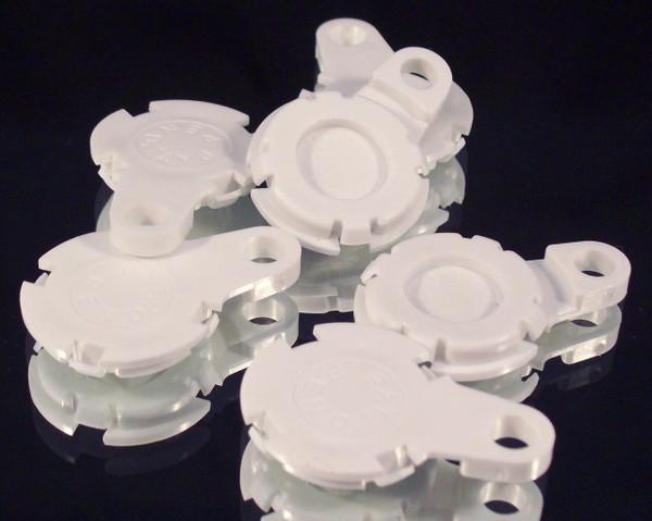 "100  Versaback Plastic Only For 1.5"" Metal Falt Backs w/Hole - No Zipper Pull - White-FREE SHIPPING"