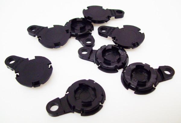 "100  Versaback Plastic Only For 1.5"" Metal Falt Backs w/Hole - No Zipper Pull - BLACK -FREE SHIPPING"
