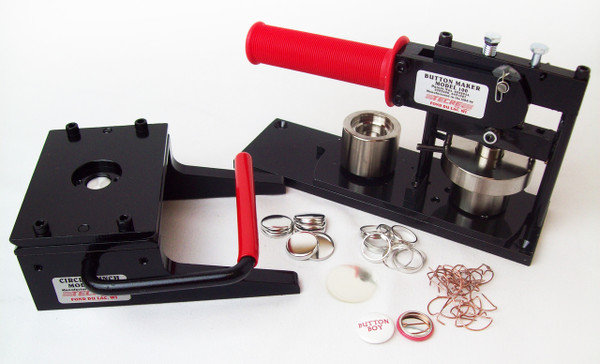 """1"""" Tecre Button Making Kit - Machine, Graphic Punch, 5000 Pin Back Button Parts-FREE SHIPPING"""