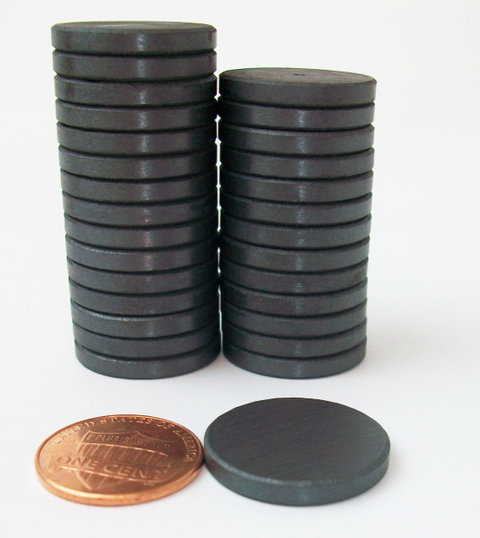 "2000 JUST RIGHT FIT magnets only -ceramic magnets  13/16"" diam. x 1/8"" thick"