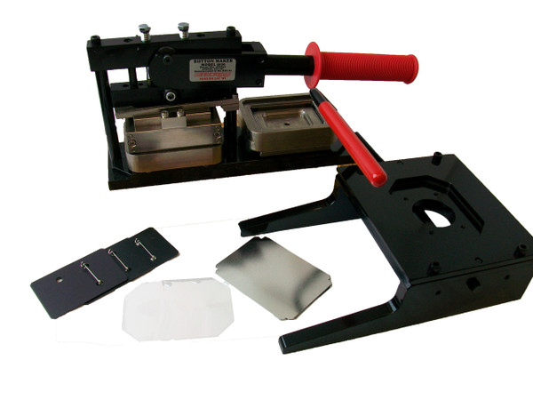 """Tecre Rectangle Button Kit  2"""" x 3""""-Machine, Graphic Punch and 1000 Complete Button Parts"""