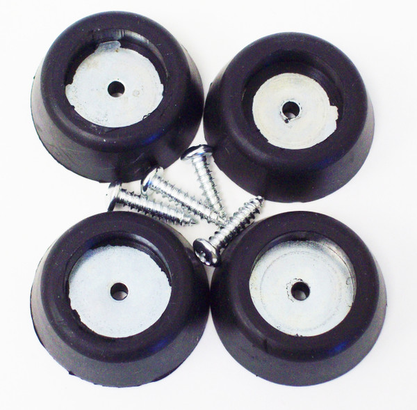Rubber Amp - Cab Feet, Large Tapered w/ Steel Insert Washer/Screw Rubber Bumpers 4PCS
