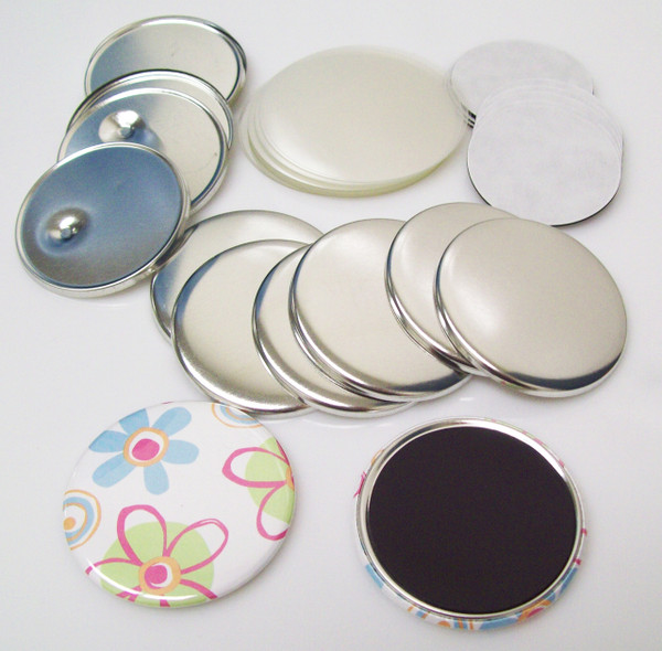 "2.25"" STD  Complete MAGNET Parts 2-1/4 Inch - Makes 300 Magnets-FREE SHIPPING"