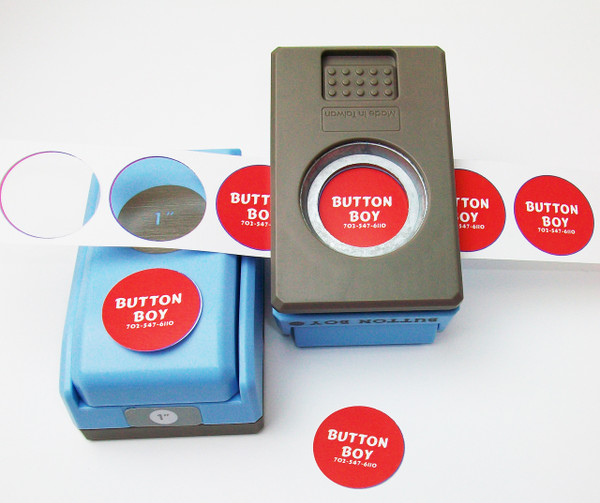 """1"""" Button Boy Double Level Hand Held Punch - cuts circles 1"""" -not for the buttons!!!"""