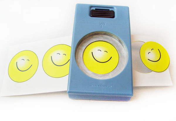 "1.5"" Button Boy EK Success Hand Held Button Punch - for 1-1/2 Inch Buttons - cuts circles 1.837"""
