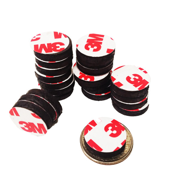 "3/4"" Inch Round Rubber Peel & Stick Magnets ONLY  250 PCS"