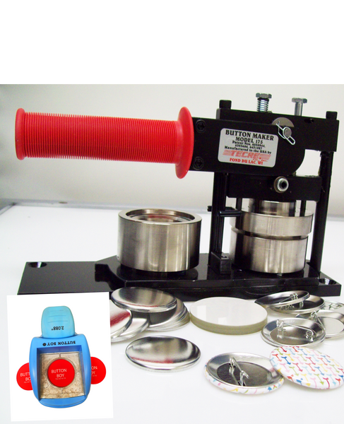 """1.75"""" KIT - Tecre Machine, Table Top Punch and 100 Pin Back Parts"""