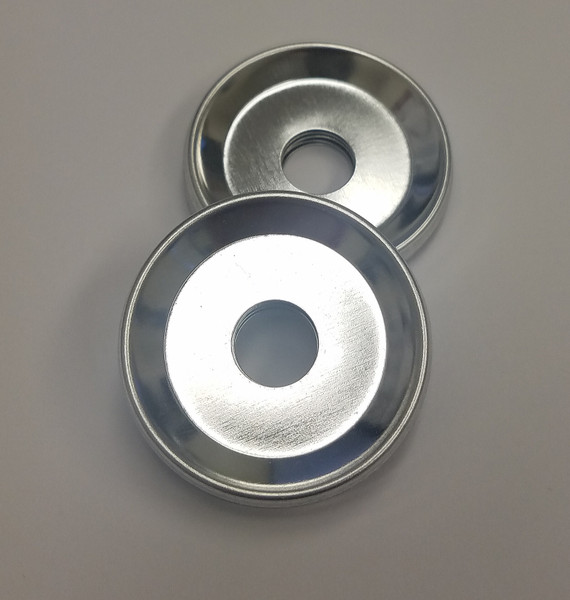 "Indented Backs with hole ONLY for 1-1/2 Inch ( 1.5"" ) Tecre Buttons - 100 pcs-FREE SHIPPING"