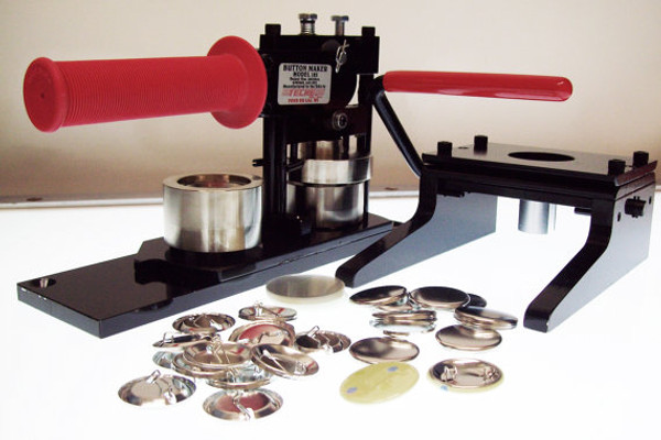 """1.25"""" Tecre Button Making Kit - Machine, Graphic Punch, 750 Pin Back Button Parts-FREE SHIPPING"""