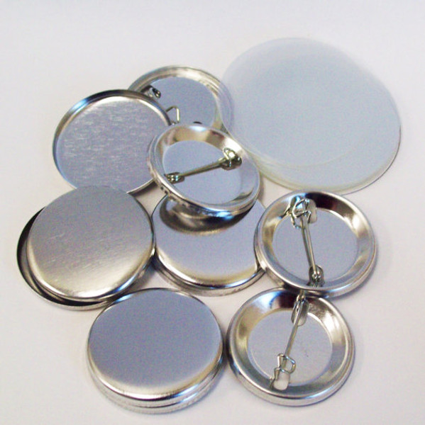 """1.25"""" Tecre Pin Back Button Parts 1-1/4 Inch - 100-FREE SHIPPING"""