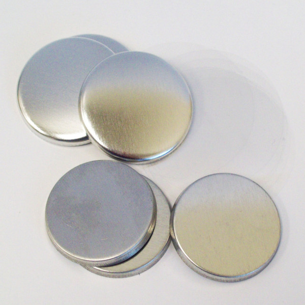 "1.25"" Tecre Metal FLAT Back Button Parts 1-1/4 Inch - 500"