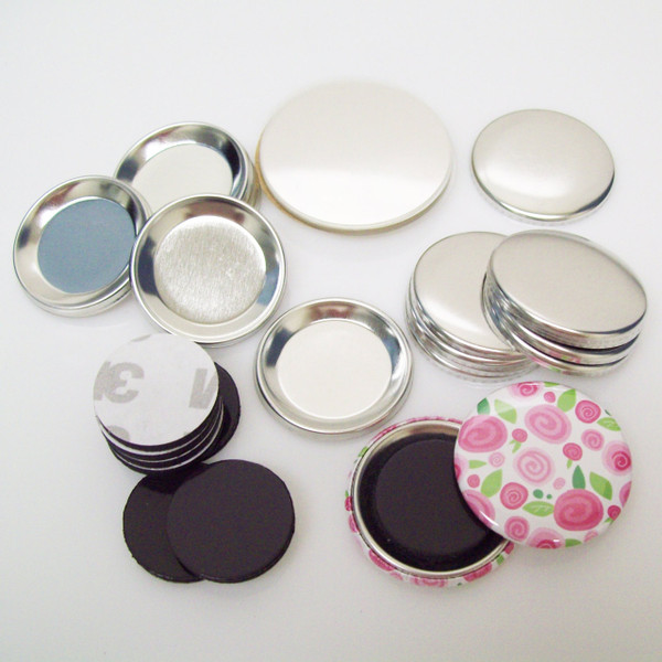 """1.5"""" MAGNET Button Parts 1-1/2 Inch - 250 pcs FREE SHIPPING"""