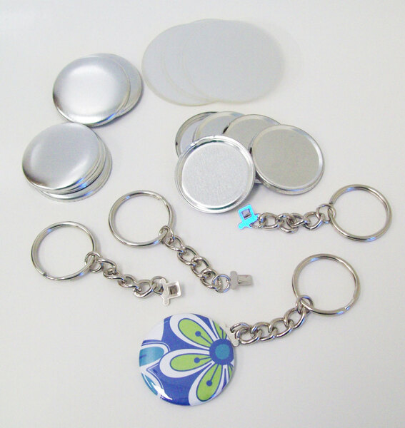 "1.50"" Tecre CHAIN Key Chain Button Parts 1-1/2 Inch - 500 pcs-FREE SHIPPING"