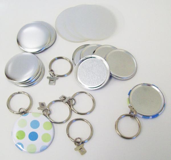 """1.50"""" Tecre SPLIT Key Chain Button Parts 1-1/2 Inch - 100 pcs"""